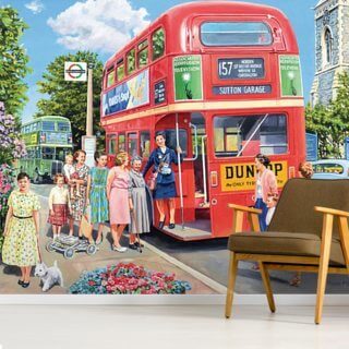 The Bus Conductress Wallpaper Wall Murals