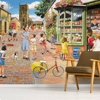The Sweet Shop Wallpaper Wall Murals