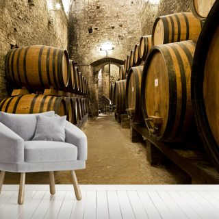 Wine Barrels in the old Cellar