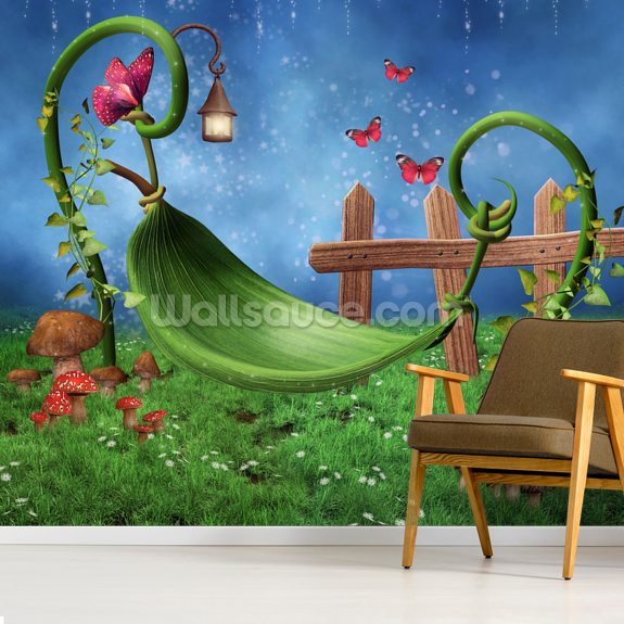 Magic Garden mural wallpaper room setting