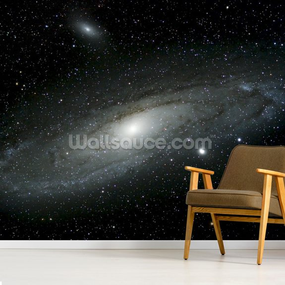 Andromeda Galaxy wall mural room setting