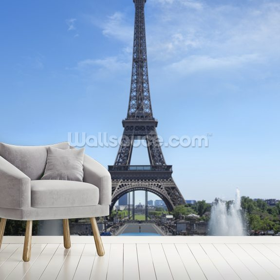 Tour Eiffel Paris wallpaper mural room setting