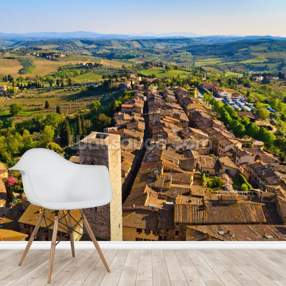 San Gimignano wall mural room setting