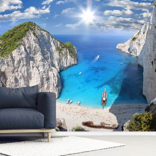 Zakynthos Beach Wallpaper Wall Murals