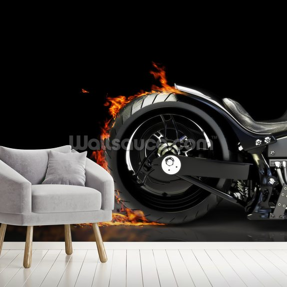 Motorcycle Burnout Wallpaper Mural Wallsauce Au