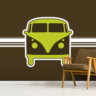 Retro VW Camper Van Illustration