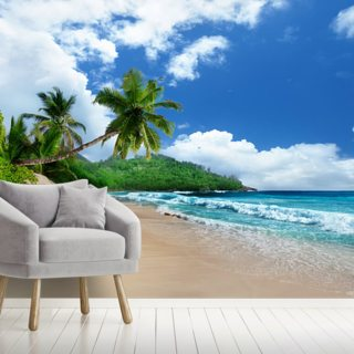 Mahe Island Beach, Seychelles Wallpaper Wall Murals