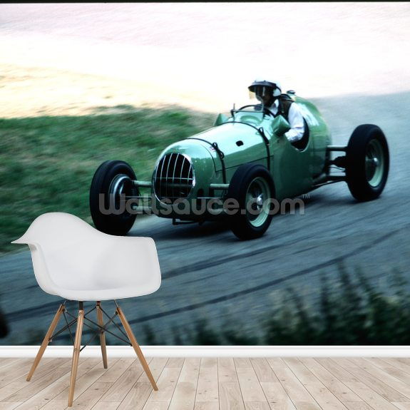 Classic Car Speed Trial wall mural room setting