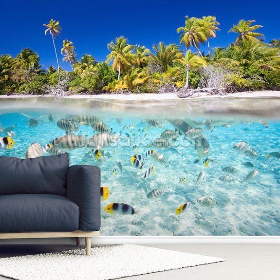 Tropical Island: Tropical Island Wallpaper Mural