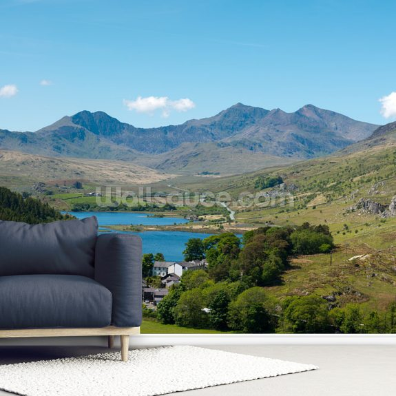 Mount Snowdon wallpaper mural room setting