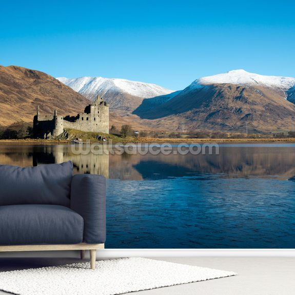 Kilchurn Castle, Scotland mural wallpaper room setting