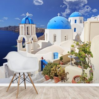 Blue Dome Church, Santorini