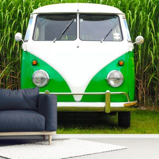 Green VW Camper
