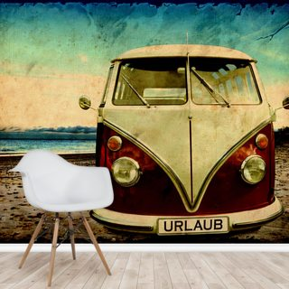 VW camper van CanvasLARGE WALL ARTvolkswagen beach holiday chill chilled