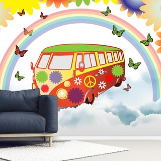 VW Camper Flower Power