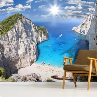 Navagio Beach, Zakynthos Wallpaper Wall Murals