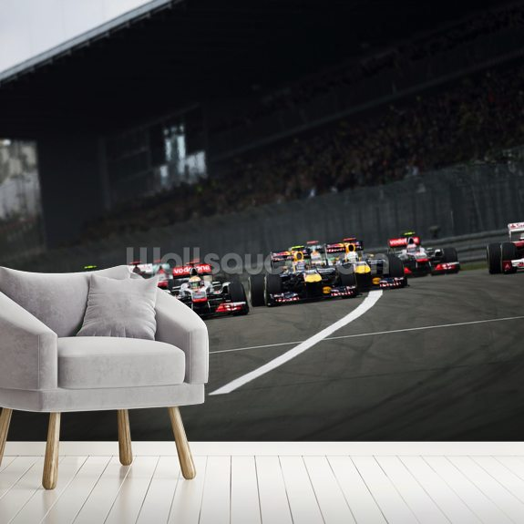 Start of the German Grand Prix 2011 wallpaper mural room setting