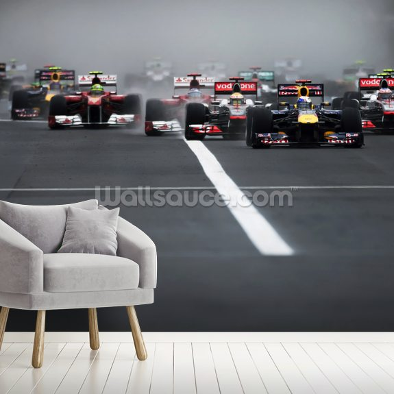 Hungarian Grand Prix 2011 mural wallpaper room setting