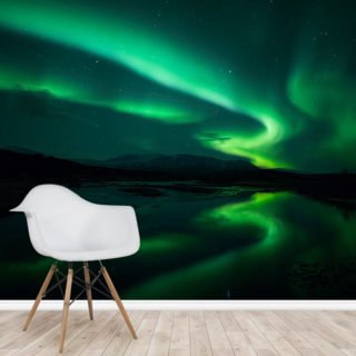 Northern Lights, Iceland Wallpaper Wall Murals