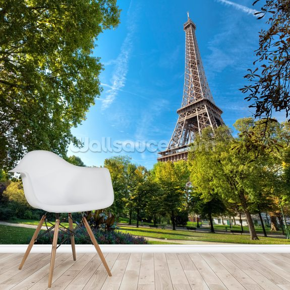 Tour Eiffel wall mural room setting