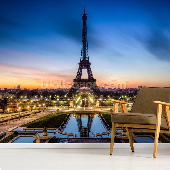 Paris At Night Sunset