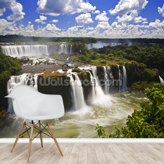 Iguassu wall mural room setting