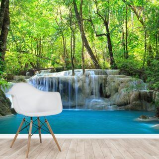 Erawan Waterfall, Thailand Wallpaper Wall Murals
