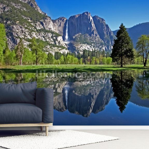 Yosemite National Park wall mural room setting