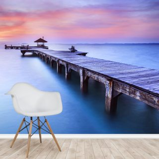 Jetty Sunrise Wallpaper Wall Murals