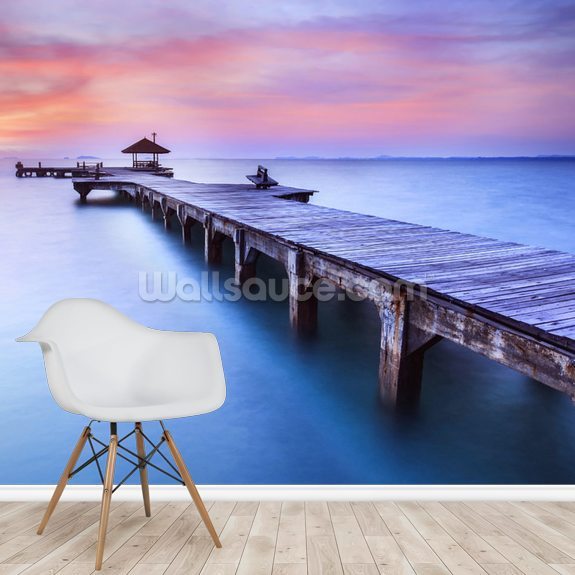 Jetty Sunrise wall mural room setting