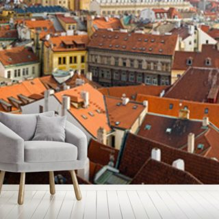 Prague Skyline Panorama Wallpaper Wall Murals