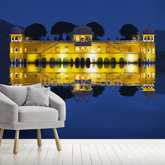 Jal Mahal, Jaipur mural wallpaper room setting