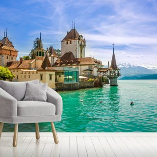 Oberhofen, Switzerland Wallpaper Wall Murals