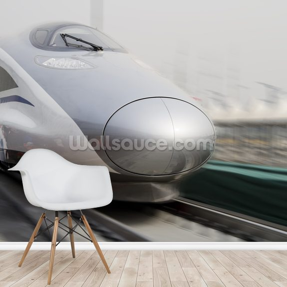 Bullet Trains wall mural room setting