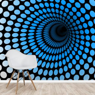 CGI Blue Tunnel Wallpaper Wall Murals
