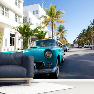 Miami Classic Car Wallpaper Wall Murals