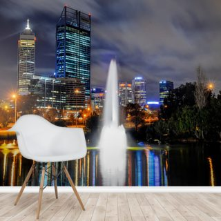 Perth City at Night Wallpaper Wall Murals