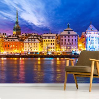 Stockholm Waterfront Wallpaper Wall Murals