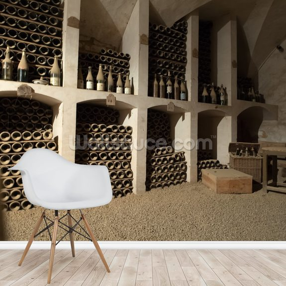 Castle Wine Cellar mural wallpaper room setting
