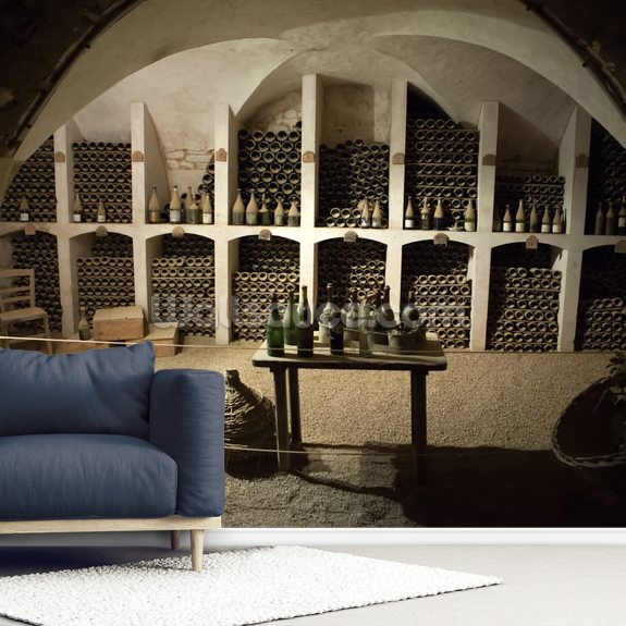 Grand Wine Cellar wall mural room setting
