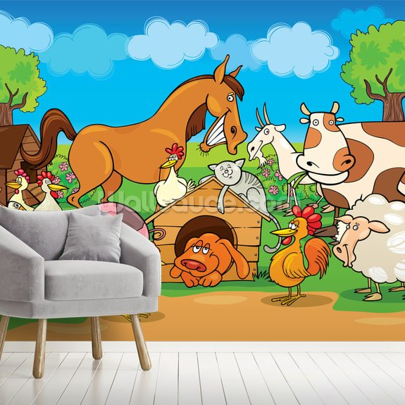 Farm Animals Wallpaper Mural