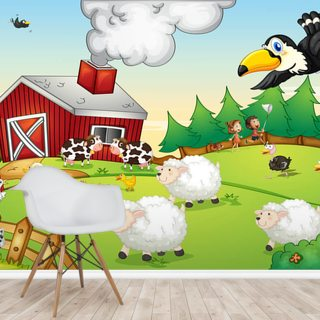 Kids Farm Wallpaper Wall Murals