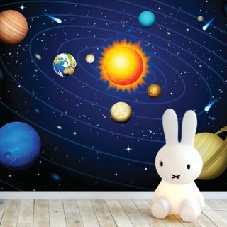 Colourful Solar System Wallpaper Wall Murals