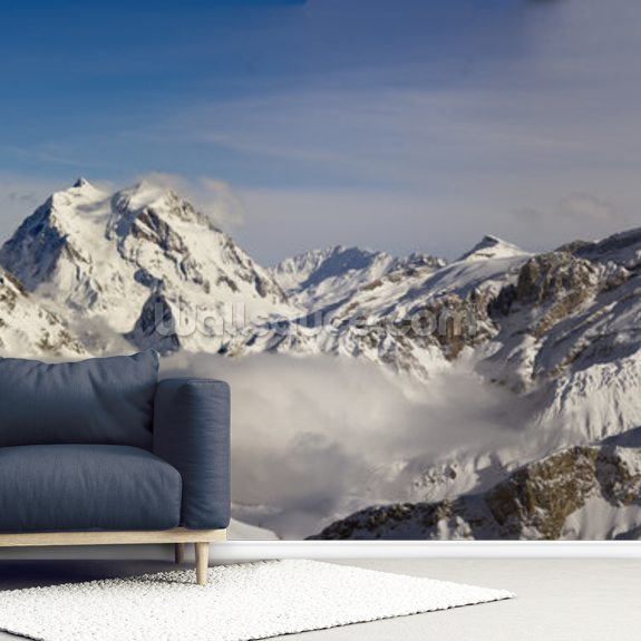 Courchevel mural wallpaper room setting