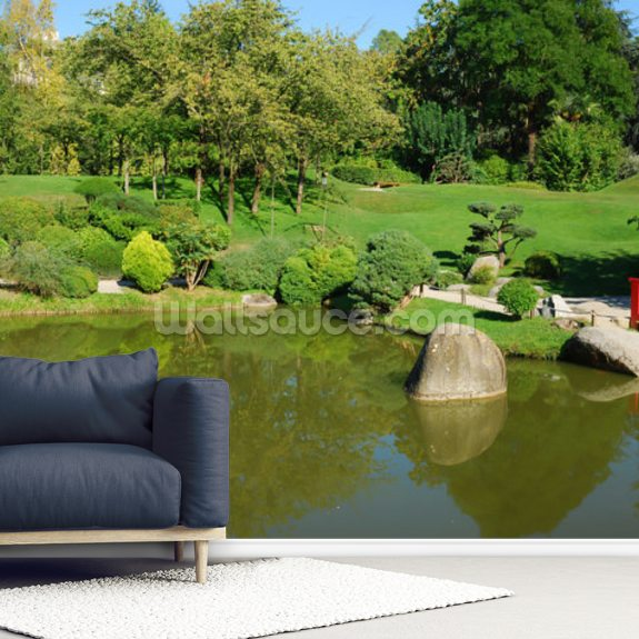 Landscaped Gardens wallpaper mural room setting