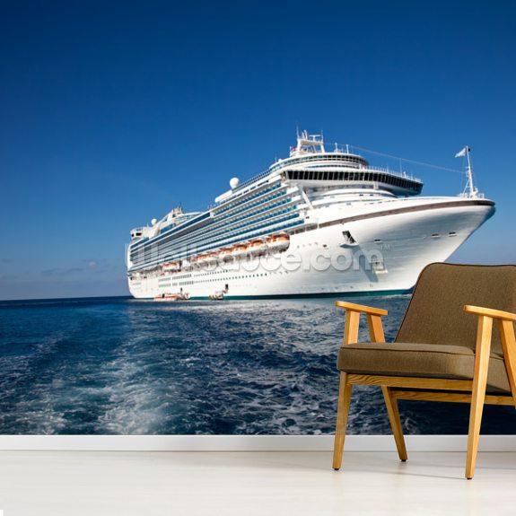 Cruise Ship In Caribbean Sea
