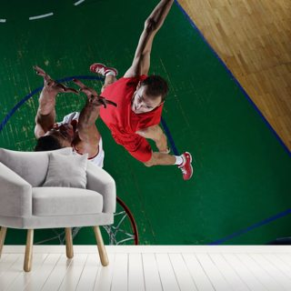 Basketball Player in Action Wallpaper Wall Murals