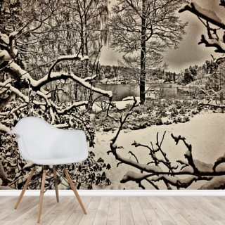 Winter Sweden Wallpaper Wall Murals