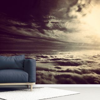 Flying Above The Clouds Wallpaper Wall Murals