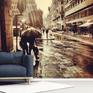 Singing in the Rain Wallpaper Wall Murals